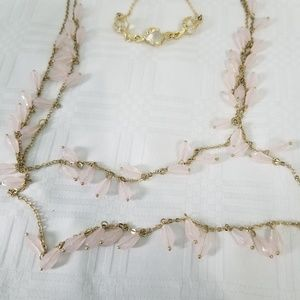 Avon Double Strand Necklace and Bracelet